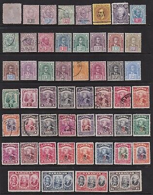 Sarawak Early Mint And Used Collection 52 Stamps