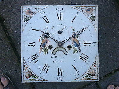 13X13  inch 8DAY   c1810 LONGCASE   CLOCK dial + movement
