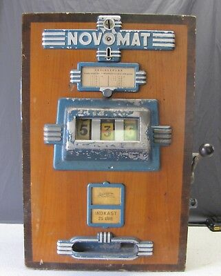 Vintage 1930-40's Novomat German Slot Machine Works  Some Wear & Dings See Pics