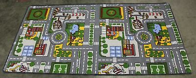 """NEW AHOC Kids Road Map Learning Educational Rug Large 39""""x75"""" Childrens Playmat"""