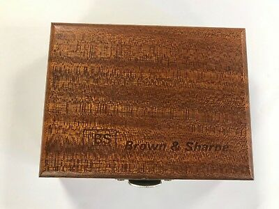 "Brown & Sharpe 599-540-3-9999  Wooden Case Only For  3"" B&S Precision Square"