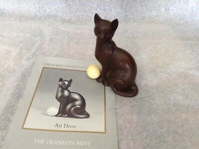 The Franklin Mint Curio Cabinet ~ Art Deco Cat ~ Very HTF~ Many Others LOOK~WOW
