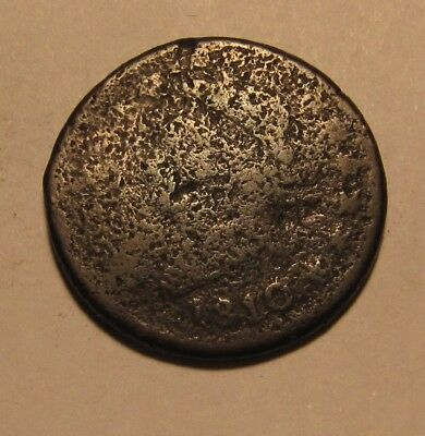 1810 Classic Head Large Cent Penny - Corroded Condition - 63SU