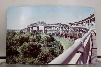 Louisiana LA New Orleans Huey P Long Bridge Postcard Old Vintage Card View Post