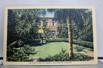 Louisiana LA New Orleans Pat O'Briens Court Yard Postcard Old Vintage Card View