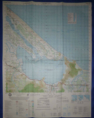 6541 i - US MAP - Gulf of Tonkin - PHU LOC - 1973 DOD - Vietnam War - Highway 1