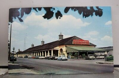 Louisiana LA New Orleans Café Du Monde French Market Postcard Old Vintage Card