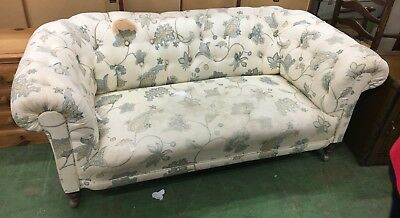 Antique Victorian Edwardian Mahogany American Walnut chesterfield sofa Settee