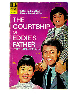 THE COURTSHIP OF EDDIE'S FATHER #1 in FN a DELL Silver Age comic TV photo cover