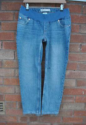 Ladies BNWT ASOS Blue Maternity Jeans Boyfriend Style Straight Casual Size 10