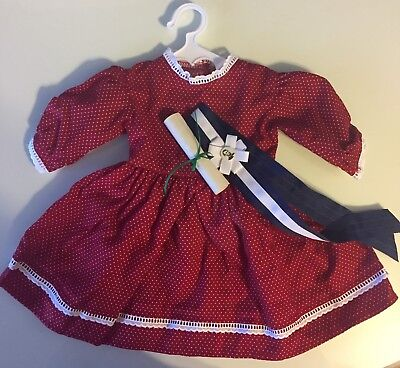 AMERICAN GIRL ADDY'S PATRIOTIC PARTY DRESS WITH SCROLL and SASH