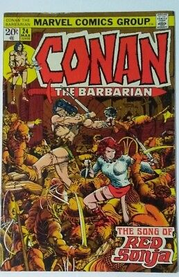 Conan The Barbarian #24 Fine First Red Sonja