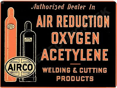 """AIRCO OXYGEN AND ACETYLENE 9"""" x 12"""" Sign"""