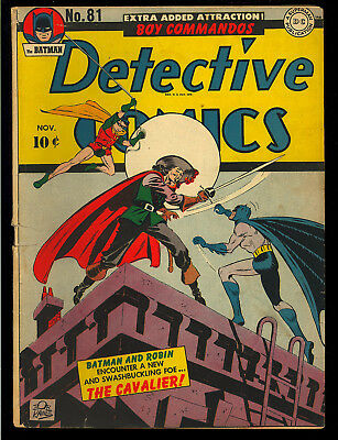 Detective Comics #81 Nice Original Owner Golden Age Batman DC 1943 VG+