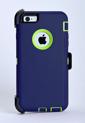 iPhone 6 Plus iPhone 6s Plus Case w/Belt Clip fits Otterbox Defender Blue/Green