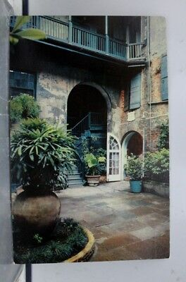 Louisiana LA Brulatour Courtyard New Orleans Postcard Old Vintage Card View Post