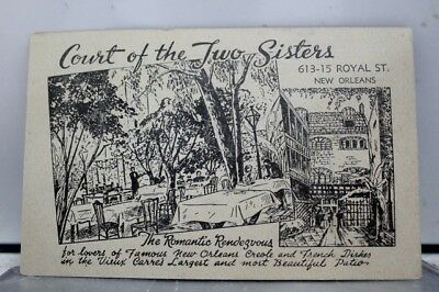Louisiana LA Court of Two Sisters New Orleans Postcard Old Vintage Card View PC