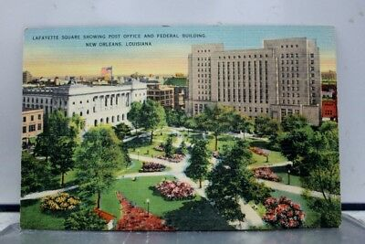 Louisiana LA Lafayette Square New Orleans Postcard Old Vintage Card View Post PC