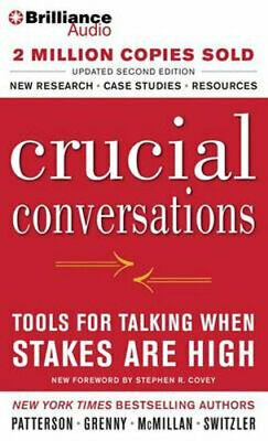 NEW Crucial Conversations By Kerry Patterson Audio CD Free Shipping