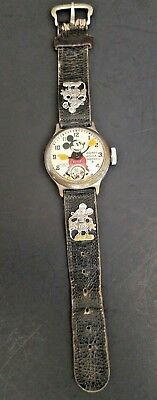 Mickey Mouse Watch Ingersoll 1933 Original Band Estate Find Not Running (Nr)