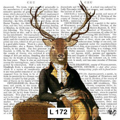 (172) TWO Individual Paper Luncheon Decoupage Napkins - SUAVE, DEER, NEWSPRINT