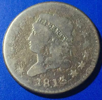 1813 Classic Head Large Cent Attractive VG Details