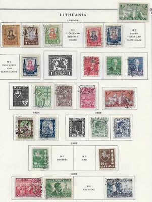 27 Lithuania Stamps from Quality Old Antique Album 1930-1940