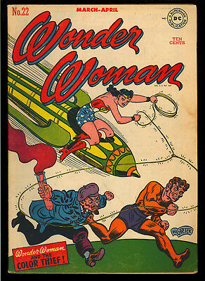 Wonder Woman #22 Very Nice Original Owner Golden Age DC Comic 1947 FN-