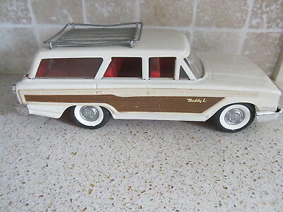 Vintage Buddy L 1960's Pressed Steel Ford Country Squire Station Wagon