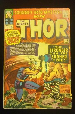 Journey Into Mystery Mighty Thor #114 Marvel Silver Age Comic Book Absorbing Man