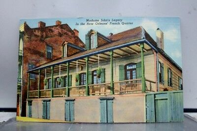Louisiana LA Madame John Legacy New Orleans French Quarter Postcard Old Vintage