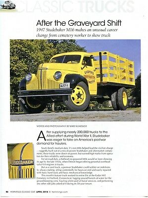 1947 STUDEBAKER M16 TRUCK 3 PG COLOR Article