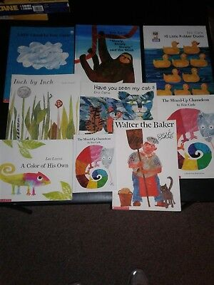 Lot of Eric Carle & Leo Lionni Picture Books, Learn to Read Collection