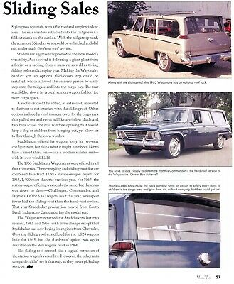 1963 1964 1965 1966 STUDEBAKER WAGONAIRE 2 page COLOR Article