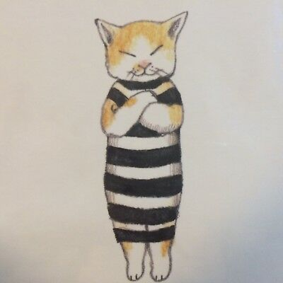 [No.83] A Kawaii Art Postcard by Yuko Higuchi for Every Cat Lover! F/S JAPAN