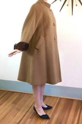 Vintage Garbadine  Swing Coat 1950's Sz 10