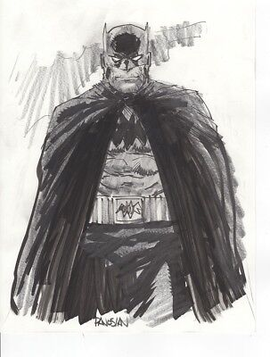 Batman Original Signed by Dan Panosian Ink on Bleedproof White paper 8x11""