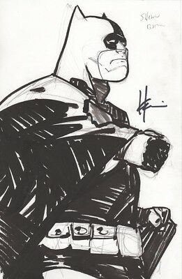 Batman Original Art Signed by Howard Chaykin