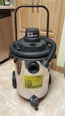 Rolling SHOP-VAC 10 Gallon Contractor Wet Dry Vacuum +Dolly Stainless Steel Tank