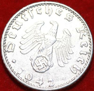 1942-D Germany 50 Pfennig Aluminum Foreign Coin