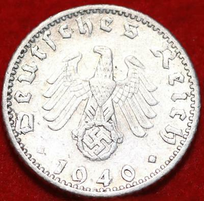 1940-D Germany 50 Pfennig Aluminum Foreign Coin
