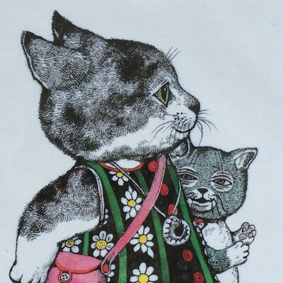 [No.010] A Kawaii Art Postcard by Yuko Higuchi for Every Cat Lover! F/S JAPAN