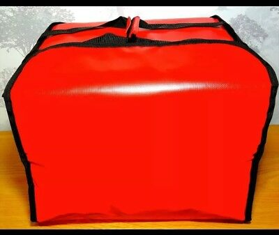 "Large Heavy Duty Pizza Delivery Bag Size16""x16""x12"" inch Insulated Hot Bag. UK"