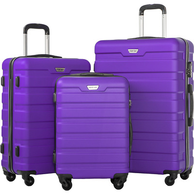 Merax New 3 Piece Luggage Set  Lightweight Spinner Suitcase Students Travels
