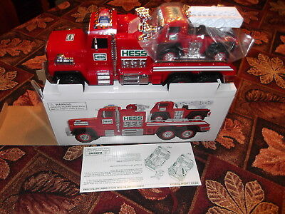 2015 Hess Fire Truck and ladder rescue Mint in box