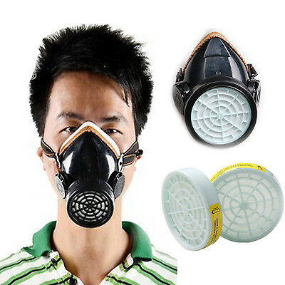 Single Catridge Respirator Anti-Dust Mask Face Protective Mask + 2pcs Filter Box
