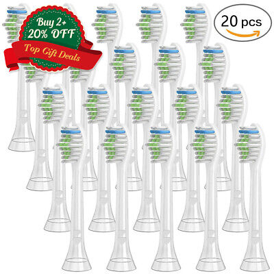 20X Replacement Brush Heads Compatible with Philips Sonicare Electric Toothbrush