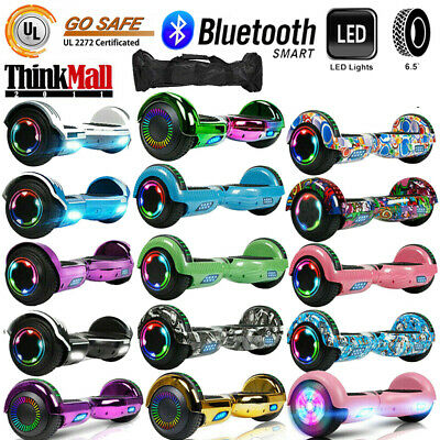 "6.5"" Bluetooth Electric Scooter Hoverboard Balancing LED - UL2272 CE Bag 2-Wheel"