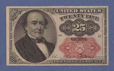 1874-1876 5th Issue 25¢ Fractional Currency,FR 1309,Walker,CH Crisp AU,Nice!
