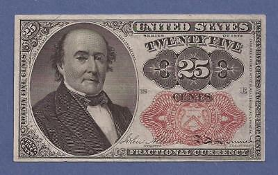 1874-1876 5th Issue 25¢ Fractional Currency,FR 1309,Walker,CH Very Fine,Nice!